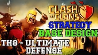 TH8 The ULTIMATE Defensive Base - Get to Crystal League NOW! | Clash of Clans Strategy: Town Hall 8