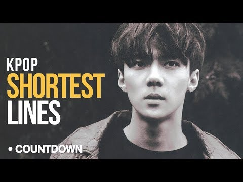 [TOP 50] SHORTEST Lines in Kpop [CountDown Sunday] | (Just From My Channel)