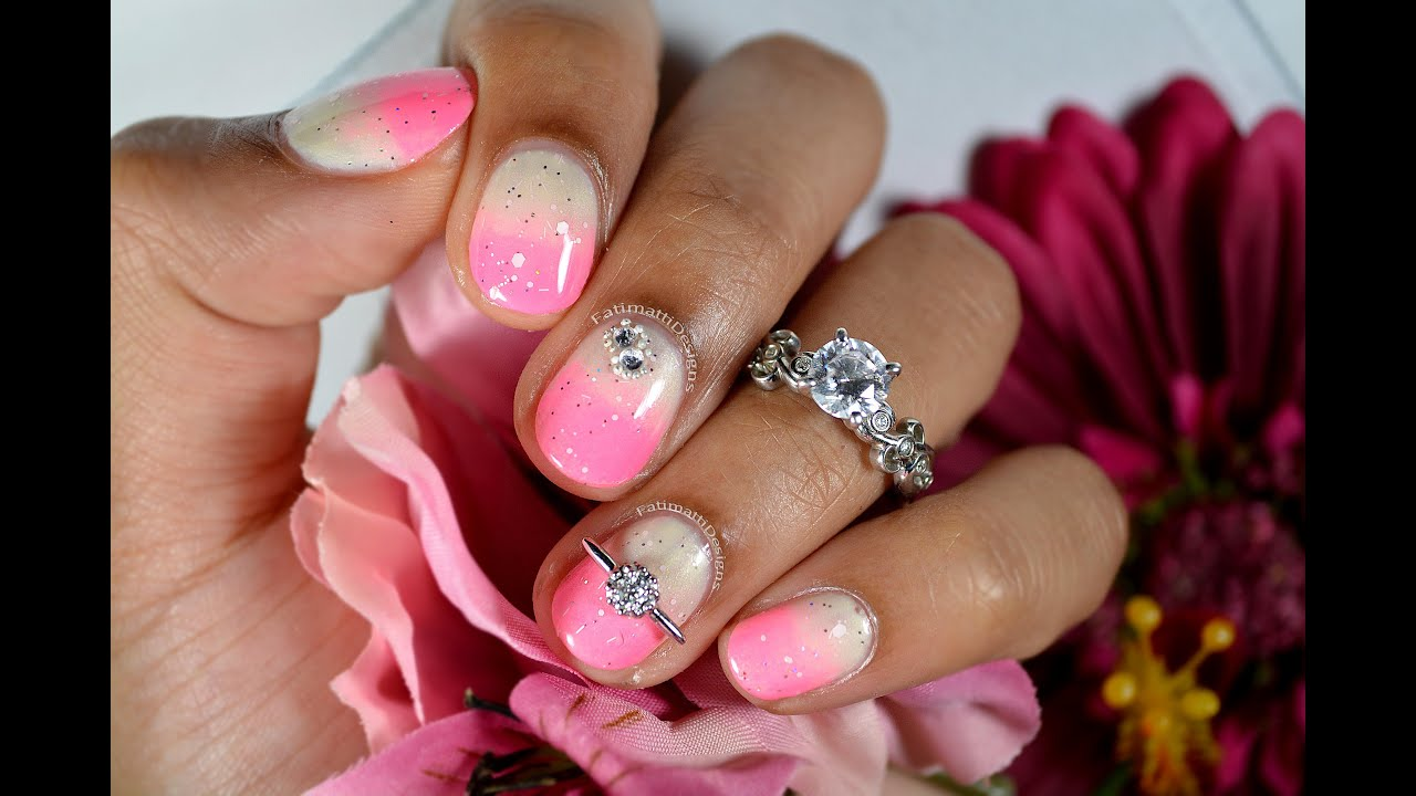 Diy pink engagement nail art ft james allen engagement ring diy pink engagement nail art ft james allen engagement ring gradientombre youtube sciox Image collections