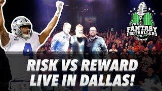 Fantasy Football 2018 - Risk vs Reward, Love Letters, LIVE in Dallas - Ep. #568