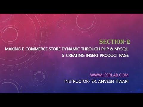 5 Creating Insert Product Page Multi Vendor E Commerce Website Using PHP & MySQL thumbnail