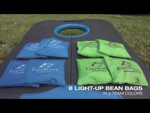 Corn Hole Light Up Bean Bags 8 Pieces