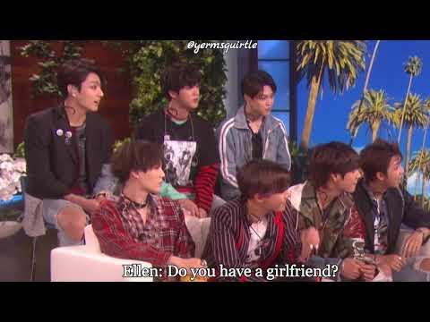 BTS HAS A GIRLFRIENDS?   방탄소년단 BTS At Ellen Show 2018
