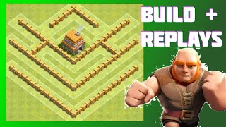 AWESOME Th5 Base! Re-Make Of Popular Base Designs | The Crest | Clash Of Clans (CoC)