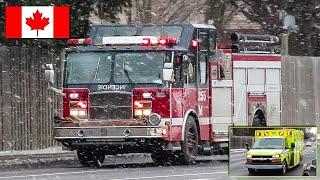Pointe-Claire | Montréal Fire Service (SIM) Pumper 255M & Urgences-Santé Ambulance 0200 Responding