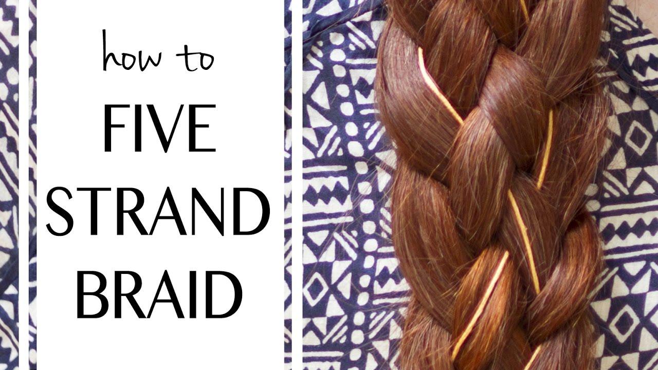 How to Make a Five Strand Braid