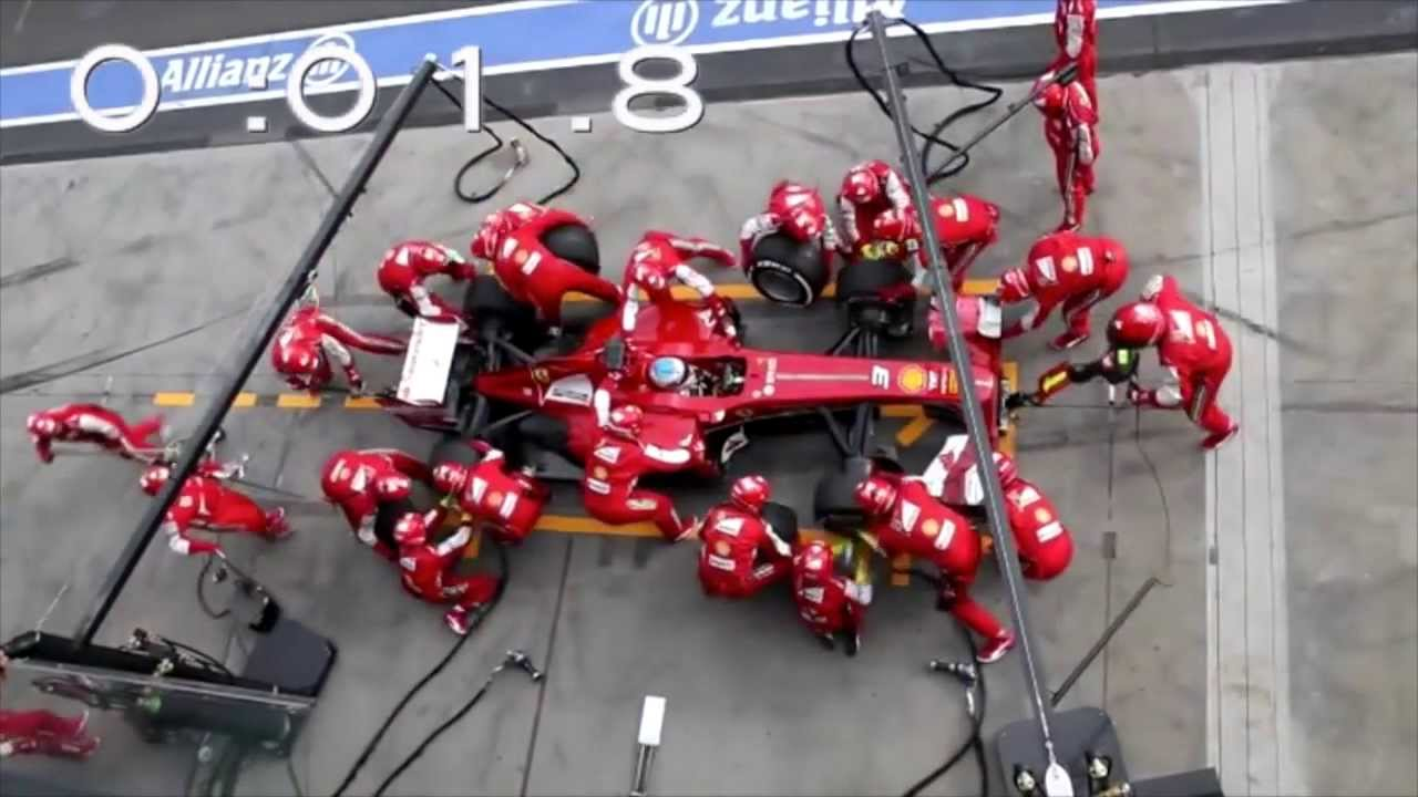 Ferrari F1 Pit Stop Perfection Slow Motion Youtube