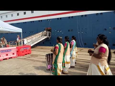 #Fred_Olsen_Cruise_Line #BOUDICCA 🌹🌷🌹 berthing Ernakulam wharf  cochin port trust