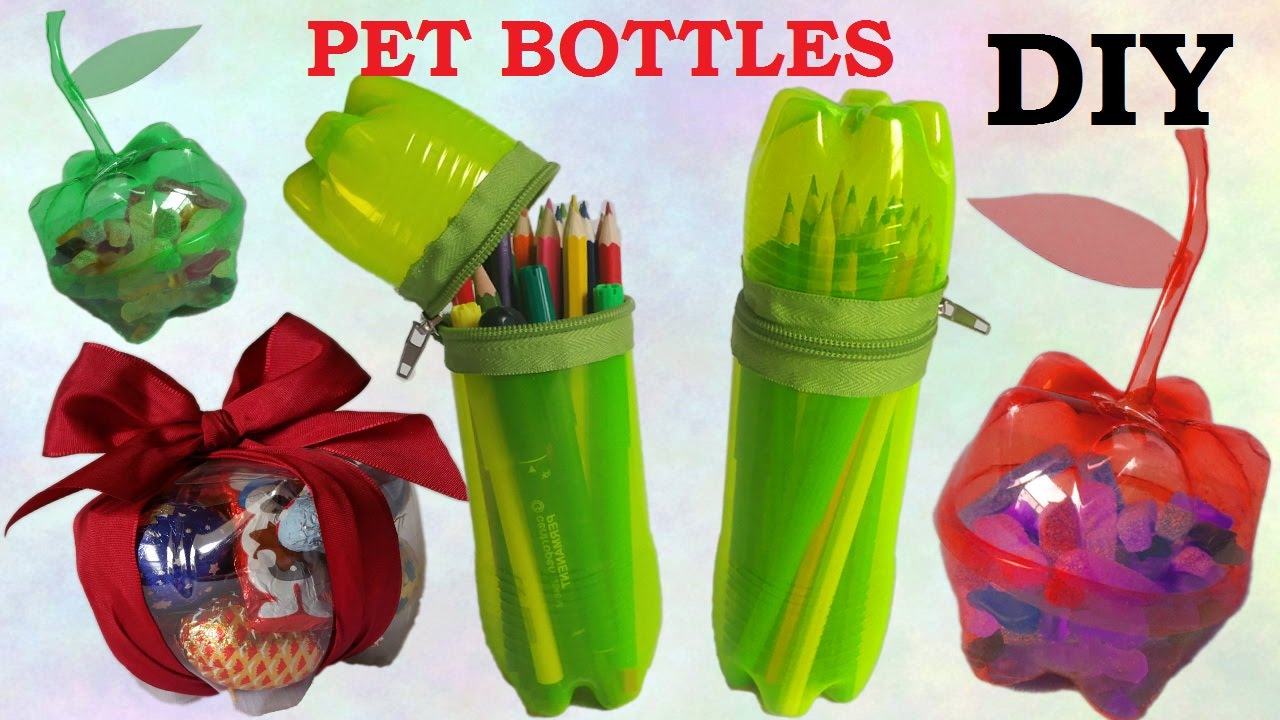 10 diy creative ways to reuse recycle plastic bottles for Waste material products