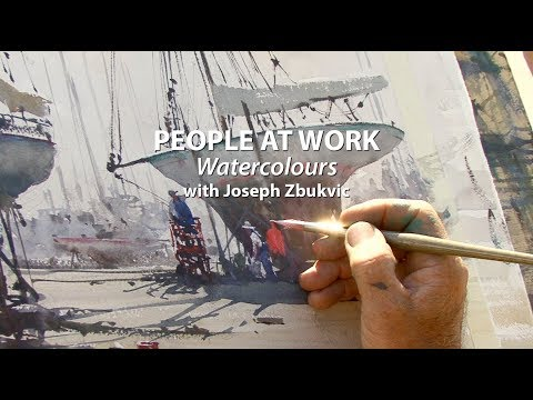 PEOPLE AT WORK watercolours: Joseph Zbukvic