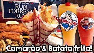 Muito camarão no Bubba Gump - Restaurante do Forrest Gump