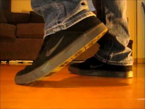 65572865e02c Nike SB Portmore - Men s Gray and Black Shoes Model Review With Jeans -  YouTube