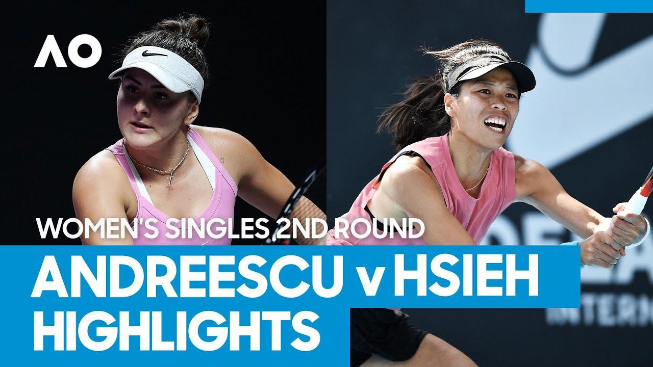 Bianca Andreescu vs Su-Wei Hsieh Match Highlights (2R) | Australian Open 2021