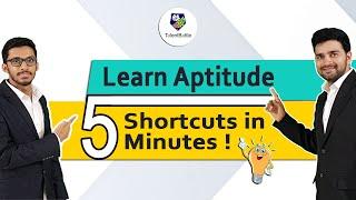 Learn 5 Aptitude Shortcuts in 5 mins ! Aptitude Tricks by Talent Battle !