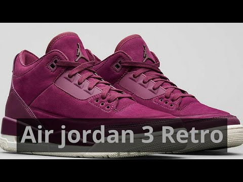 """43b7f30761e First look at Air Jordan 3 Retro Set To Release In """"Bordeaux"""" For Women"""