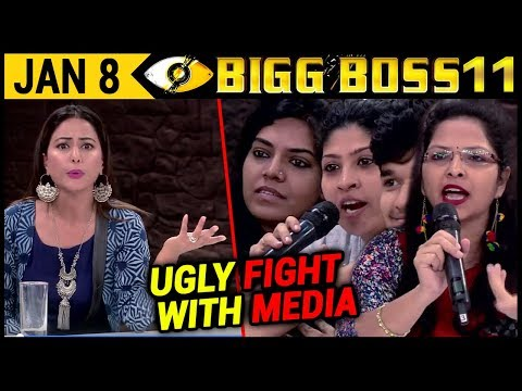 Hina Khan Big Fight With Media in Bigg Boss 11   Finale Week