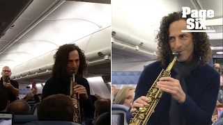 Kenny G gave this Delta flight a smooth ride