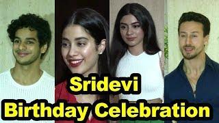 Sridevi Birthday Celebration | Ishaan Khattar,Jhanvi,Khushi, Tiger Shroff | Must Watch |