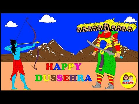 Happy Dussehra | Dussehra Coloring page for Kids | Vijayadashmi Greetings