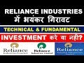 RELIANCE Ind STOCK ANALYSIS   WHY RIL Share FALL?   INVESTMENT करे या नही?