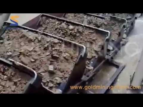 SKL-WD200 Gold dredger working at site