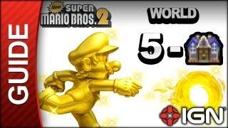 New Super Mario Bros. 2 - Star Coin Guide - World 5-Haunted House - Walkthrough