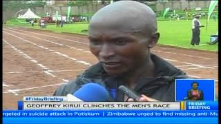 David Rudisha was the star attraction during the 5th Athletics Kenya track at Gusii stadium