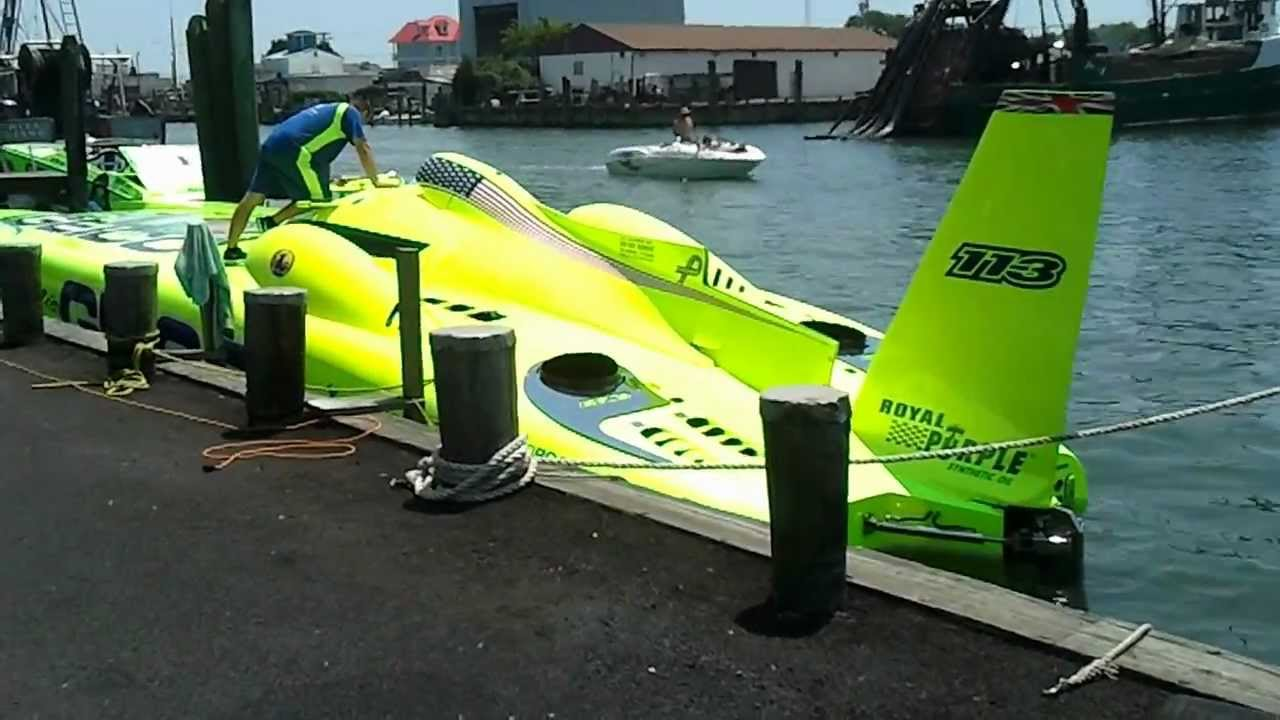 Miss Geico Turbine Racing Boat Up Close And Personal Over