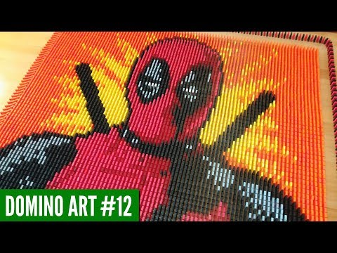 HUGE DEADPOOL ART MADE FROM 7,000 DOMINOES | Domino Art #12