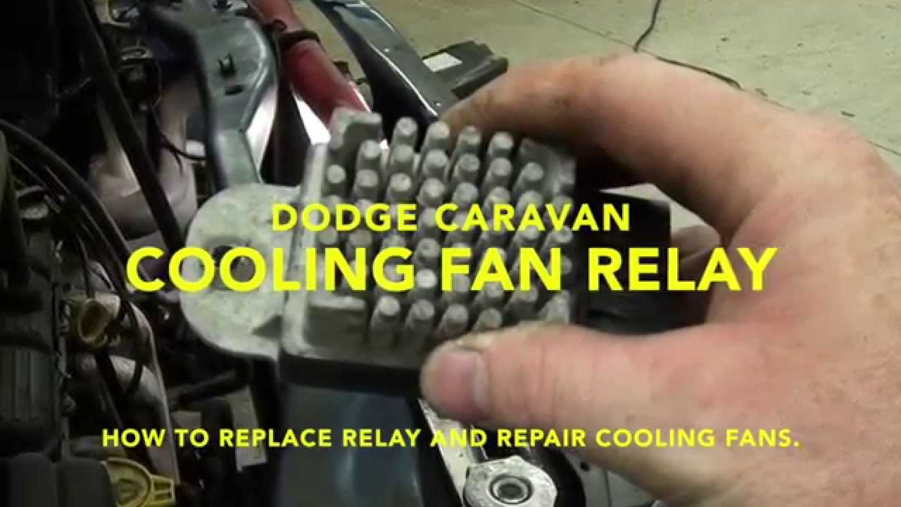 small resolution of how to repair cooling fans and fault code dtc p0480 in a dodge caravan youtube