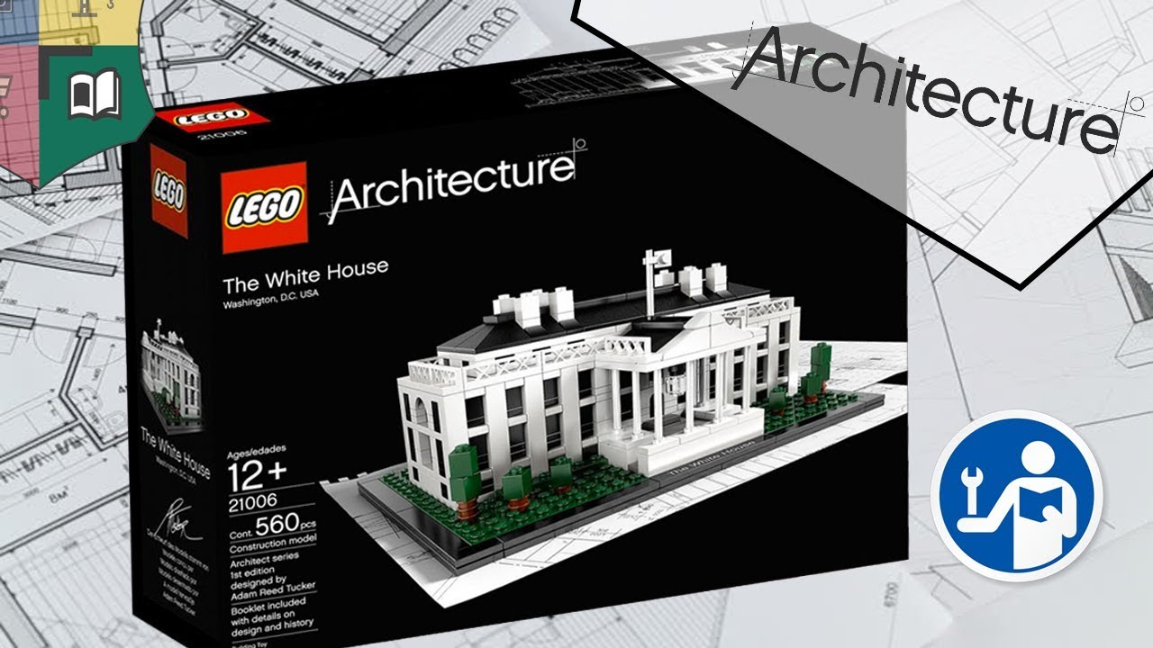 Architecture Lego 21006 The White House Aca D Brick