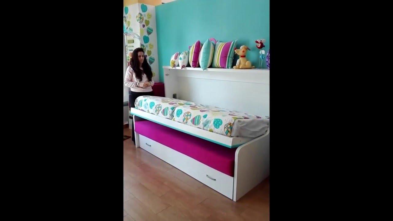 Cama sofa para amueblar pisos peque os camas plegables - Camas plegables horizontales ...