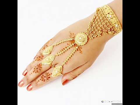 Gold bracelet with ring designs latest gold bracelet by