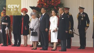 FULL VIDEO: Queen Elizabeth II hosts welcoming ceremony for Chinese President Xi Jinping