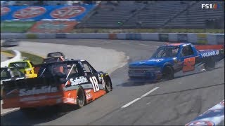NASCAR Camping World Truck Series 2018. Martinsville Speedway. Multiple Crash