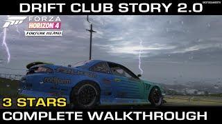 Forza Horizon 4 - Drift Club 2.0 Story - Fortune Island (3 Stars Complete Walkthrough)