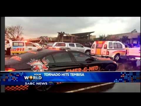 At least 23 people in hospital following a tornado in Tembisa