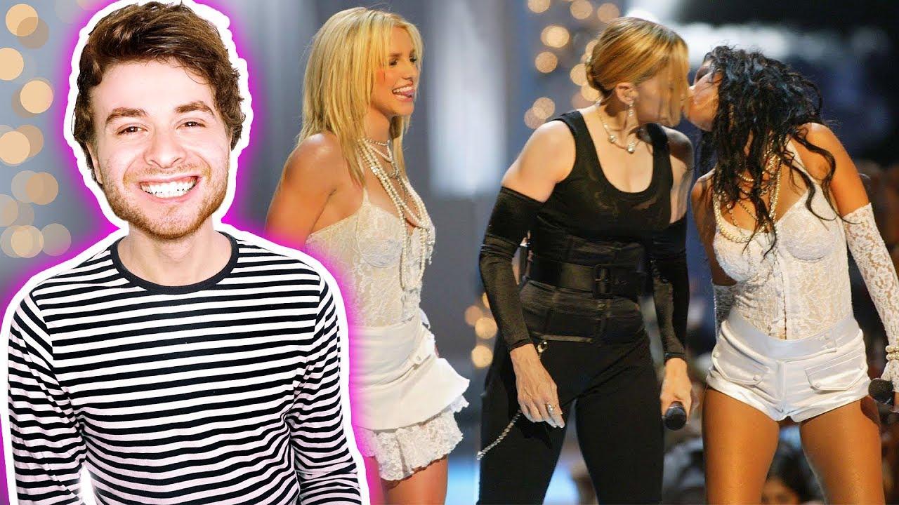 Madonna, Britney Spears & Christina Aguilera Like a Virgin / Hollywood (Live on VMAs 2003) React