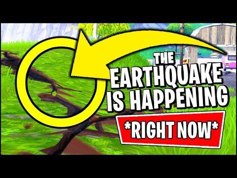 🔴 Fortnite Earthquake IS HAPPENING *RIGHT NOW* (Fortnite Earthquake Event Season 8)