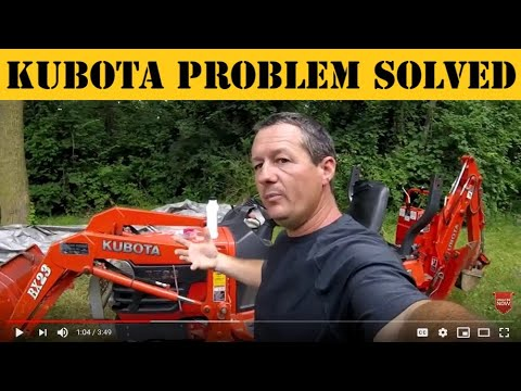 Problem Solver for Kubota Diesel Tractor loss of power