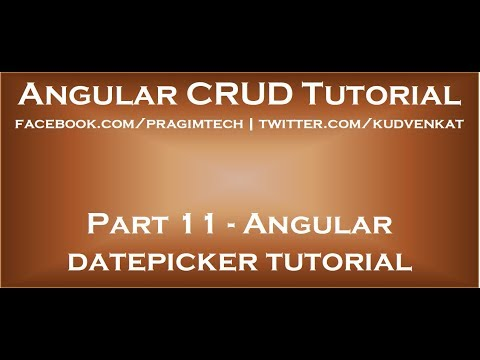 Angular datepicker tutorial