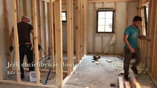 Budowa domku drewnianego letniskowego z tarasem i poddaszem projekt Żuraw