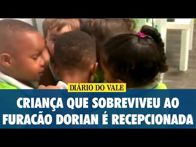 Criança de 3 anos que sobreviveu ao furacão Dorian, nos EUA, é recepcionada na escola