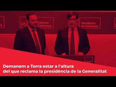 Demanem a Torra estar a l'altura del que reclama la presidència de la Generalitat