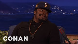 "Marshawn Lynch: The NFL Hated When I Grabbed My ""Ding-Ding Sauce""  - CONAN on TBS"