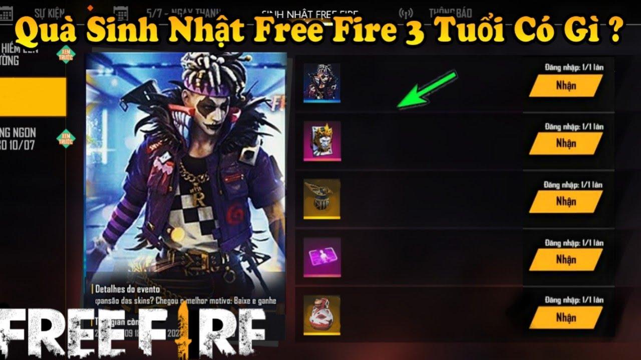 [Garena Free Fire] Review Quà Sự Kiện Sinh Nhật Free Fire 3 Tuổi Có Những Gì ? Skin Súng Mới Ob23.