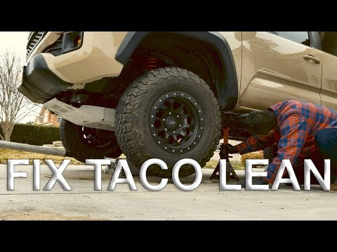 FIX TACO LEAN – Toyota Tacoma 2nd and 3rd gen + bonus DIY / HOW TO swap front suspension
