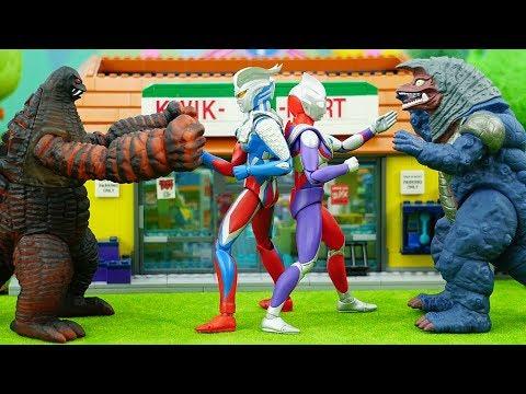 Ultraman Zero &Ultraman Tiga VS Red King &Golza