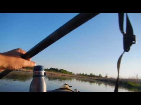 Accidental footage (reverse angle) writing, paddling, Cherokee Marsh