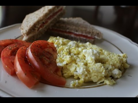 Scrambled Eggs with Feta